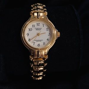 Carriage Gold Indiglo Watch